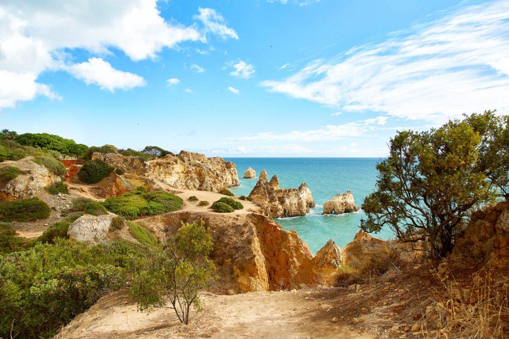 Rocky coast of Atlantic Ocean, Portugal